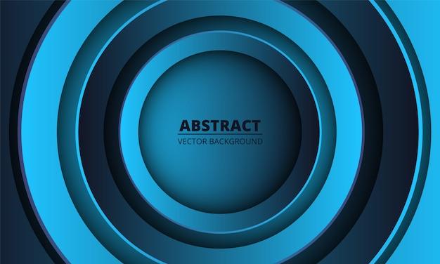 Blauer und dunkelblauer geometrischer abstrakter hintergrund.