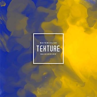 Blauer und gelber abstrakter aquarellhintergrund