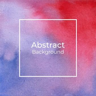 Blauer und roter abstrakter aquarellhintergrund