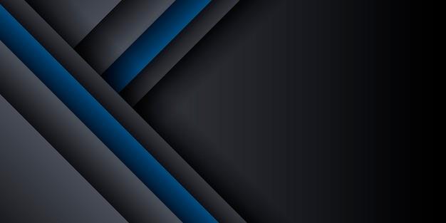 Blauer und schwarzer abstrakter hintergrund mit überlappungsrechteckbeschaffenheit