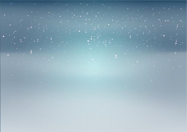 Blauer und schwarzer hintergrund mit weißen sternen und punkten