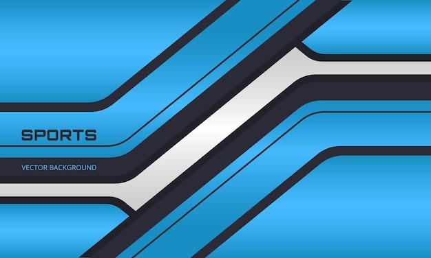 Blauer und schwarzer sporthintergrund mit abstrakten formen