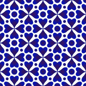 Blauer und weißer nahtloser vektor