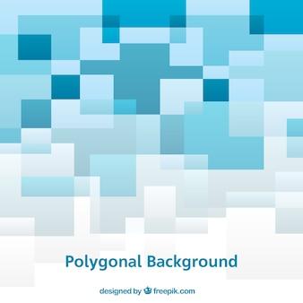 Blauer und weißer polygonaler hintergrund