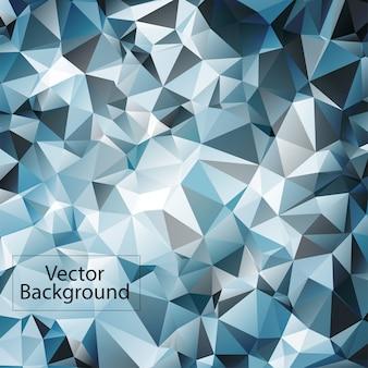 Blauer und weißer polygonaler mosaikhintergrund
