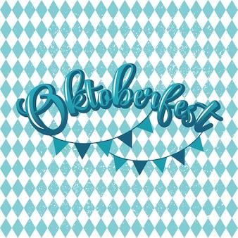 Blauer und weißer titel mit gekritzelmuster
