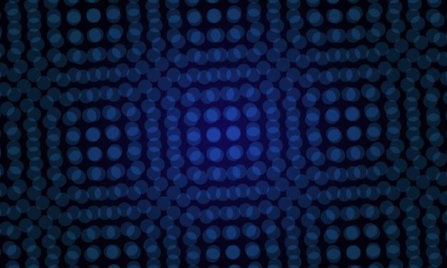 Blauer vektorhintergrund mit blasen. muster für futuristische anzeige, broschüren.