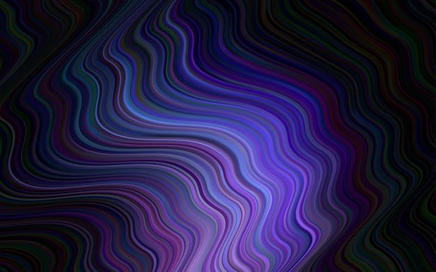 Blauer vektorhintergrund mit gebogenen kreisen