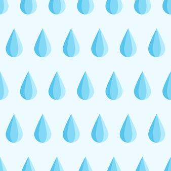 Blauer wassertropfen fällt herunter