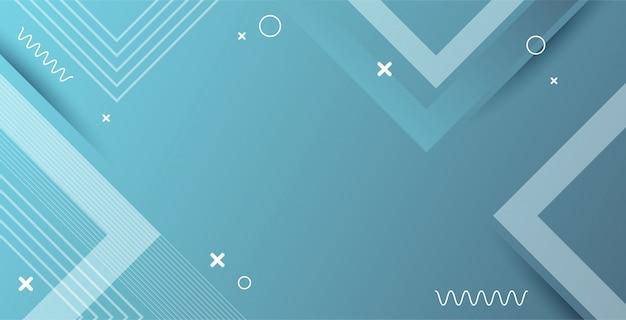 Blauer weicher abstrakter hintergrund mit geometrischer form