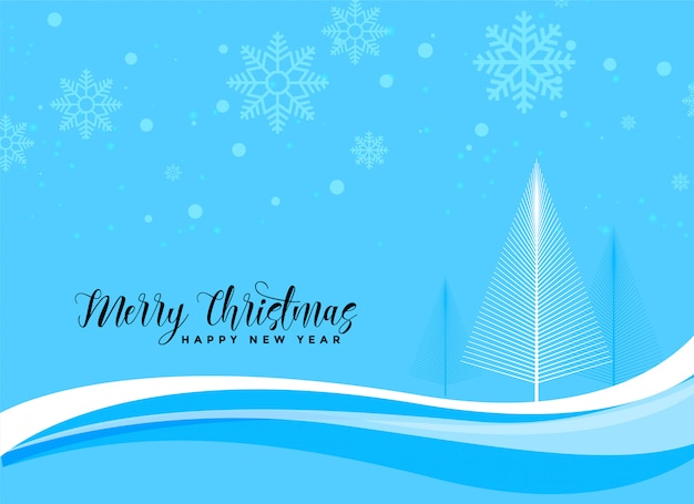 Blauer weihnachtsschöner szenenhintergrund