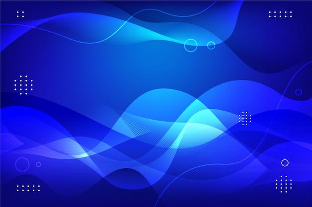 Blauer wellenförmiger hintergrund mit farbverlauf