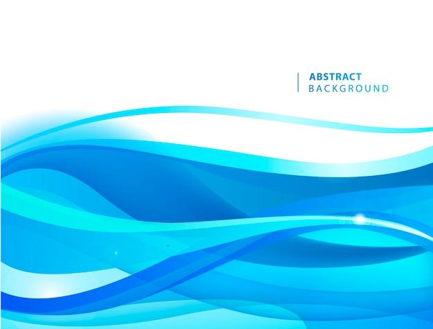 Blauer wellenhintergrund des abstrakten vektors. grafikvorlage für broschüre, website, mobile app, faltblatt. wasser, strom abstrakte illustration