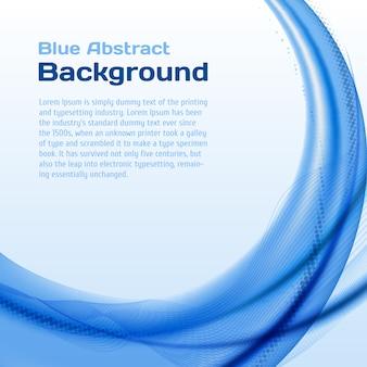 Blauer wellenhintergrund mit halbtonbild