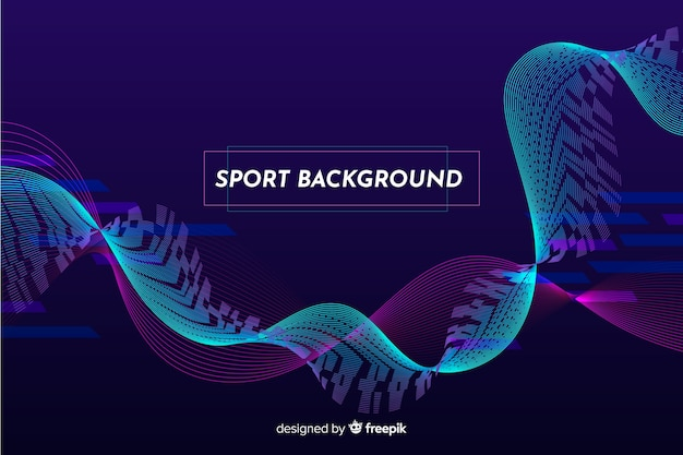 Blauer wellenzusammenfassungs-sporthintergrund