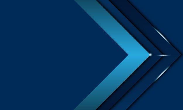 Blauer winkelpfeil überlappende schicht mit beleuchtungshintergrund. design für banner-website.