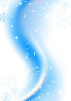 Blauer winter-weihnachtshintergrund mit schneeflocken