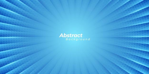 Blauer zoomhintergrund mit abstrakten linien und kreispunkten.