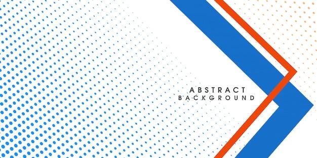 Blaues abstraktes geometrisches halbtonhintergrunddesign