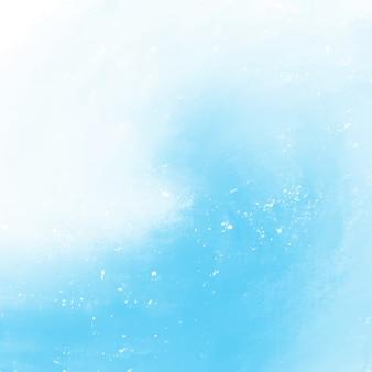 Blaues aquarell auf weißem hintergrund