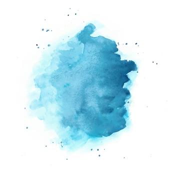 Blaues aquarell. runder fleck isoliert.