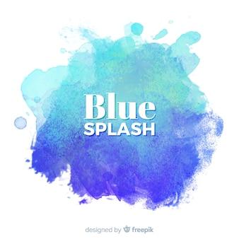 Blaues aquarell spritzen