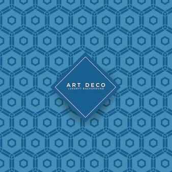 Blaues art-deco-muster
