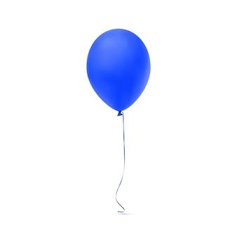 Blaues ballonsymbol auf weißem hintergrund. illustration