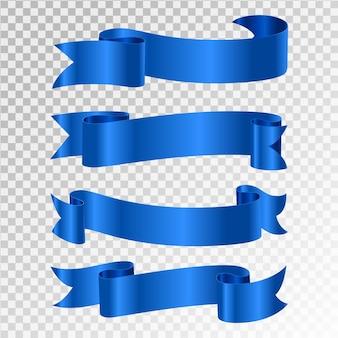 Blaues band auf transparentem hintergrund isoliert