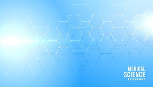 Blaues banner für die medizin- und gesundheitsbranche