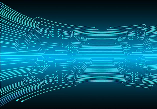 Blaues cyberstromkreis-zukunftstechnologiekonzept