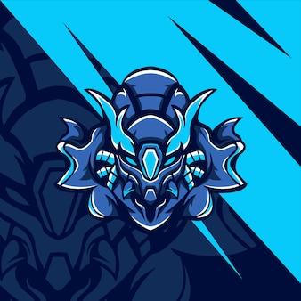 Blaues cyborg-monster