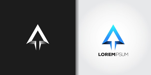 Blaues dreieck-logo