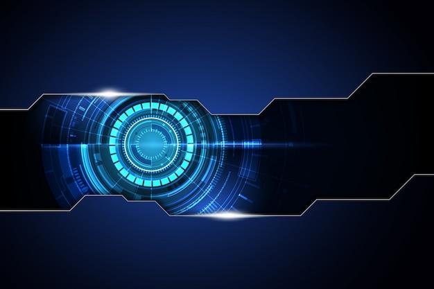 Blaues dunkles geschwindigkeitskommunikationskonzept des rahmenzusammenfassungs-technologiehintergrundes hallo