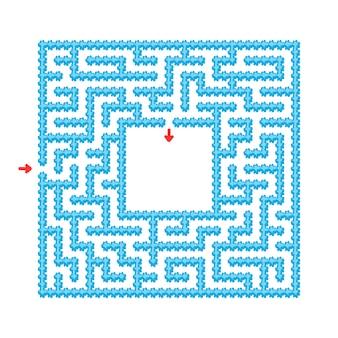 Blaues einfaches labyrintharbeitsblatt