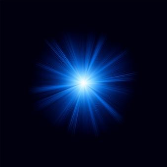Blaues farbdesign mit einem ausbruch. datei enthalten