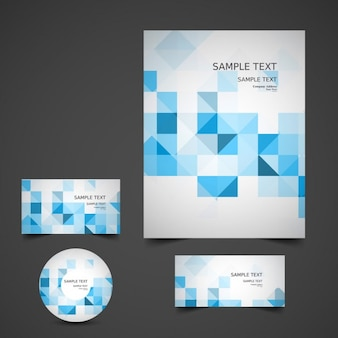 Blaues geschäftsbriefpapier