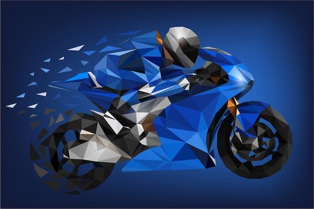 Blaues grand prix motorsport polygon
