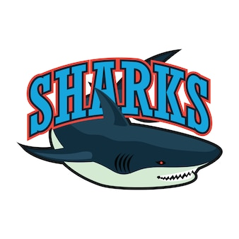 Blaues haifisch-logo