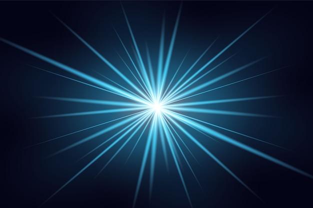 Blaues horizontales linseneffektpaket. laserstrahlen, horizontale lichtstrahlen. schöne lichtfackeln.