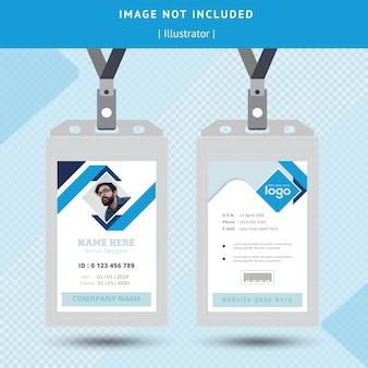 Blaues id-karten-design