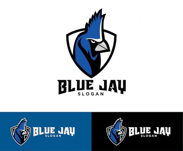 Blaues jay-sportlogo
