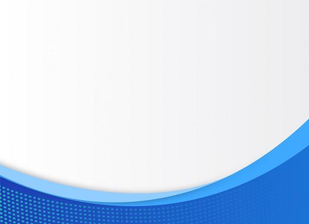 Blaues kreatives design mit copyspace