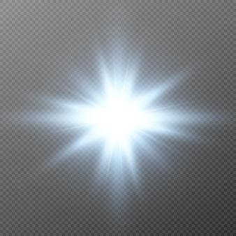 Blaues leuchten. magisches leuchten, blaues licht, strahlen, blauer blitz