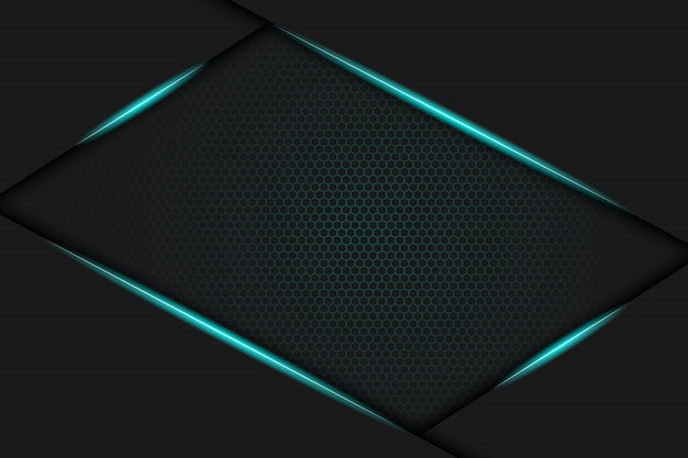 Blaues metallisches rahmenhintergrunddesign. vektor-illustration