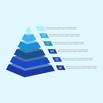 Blaues modernes pyramidendiagramm für darstellung