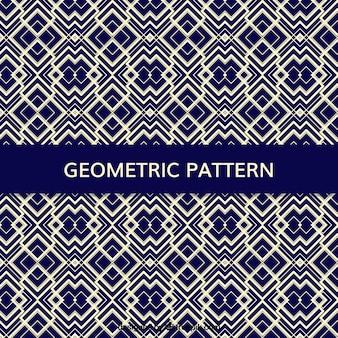 Blaues muster mit geometrischen formen