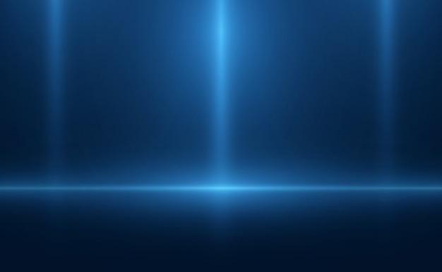 Blaues neon der leeren hintergrundszene