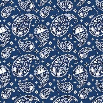 Blaues paisley-bandana-muster