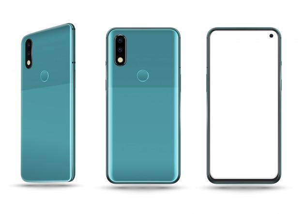 Blaues smartphone
